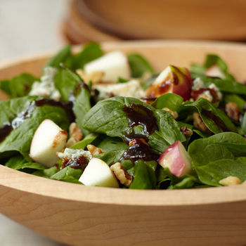 Macintosh, Spinach, Toasted Walnut and Stilton Salad