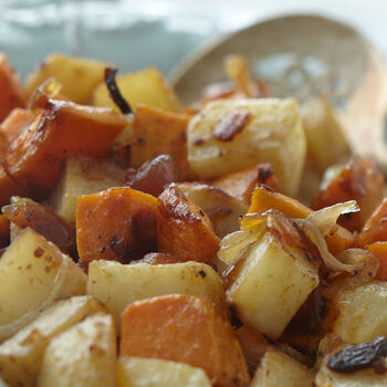 Oven Roasted Yams & Potatoes