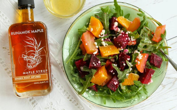 Beet Salad with Ginger Maple Syrup Vinaigrette