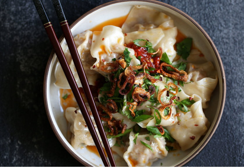 SPICY SICHUAN WONTONS WITH CHILI SAUCE