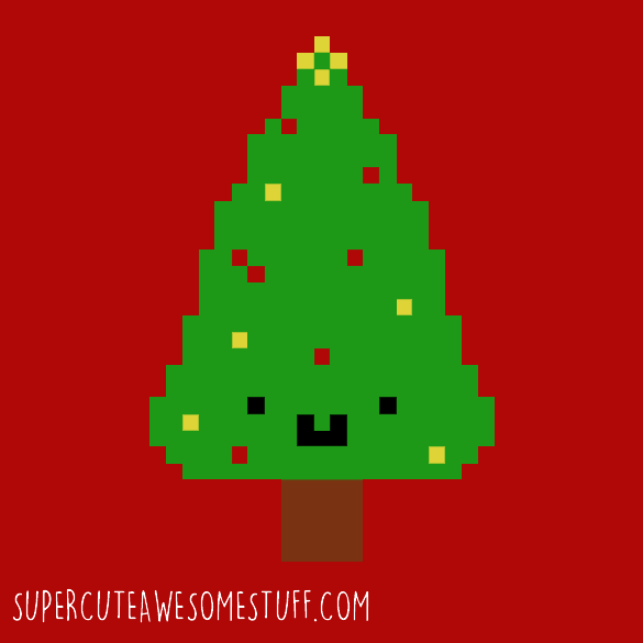 Cute Christmas Pixel Tree T-Shirt