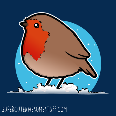 Cute Christmas Robin T-shirt
