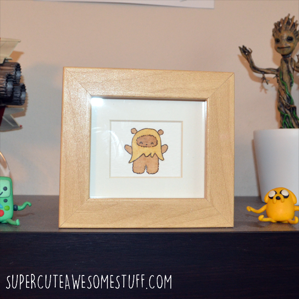 Miniature Watercolour Ewok