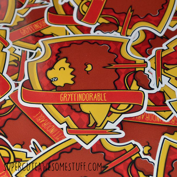 Gryffindorable Die-Cut Vinyl Sticker