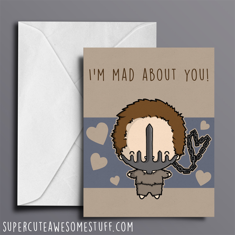 I'm Mad (Max) About You - Valentine's Card