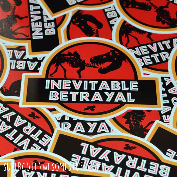 Jurassic Betrayal Die-Cut Vinyl Sticker