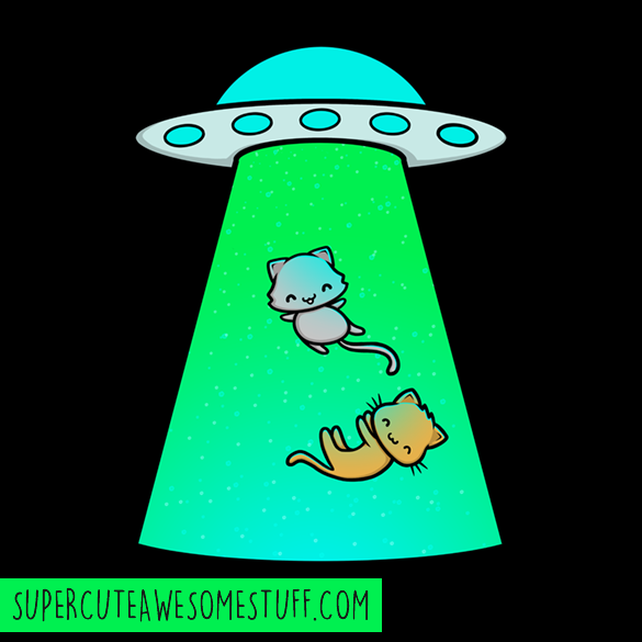 Kitty Abduction T-Shirt