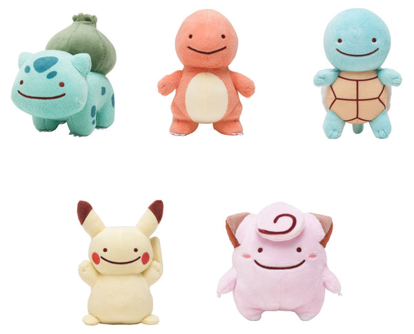 New Pokemon Center Ditto Transform Plushes (Bulbasaur, Charmander, Squ ...