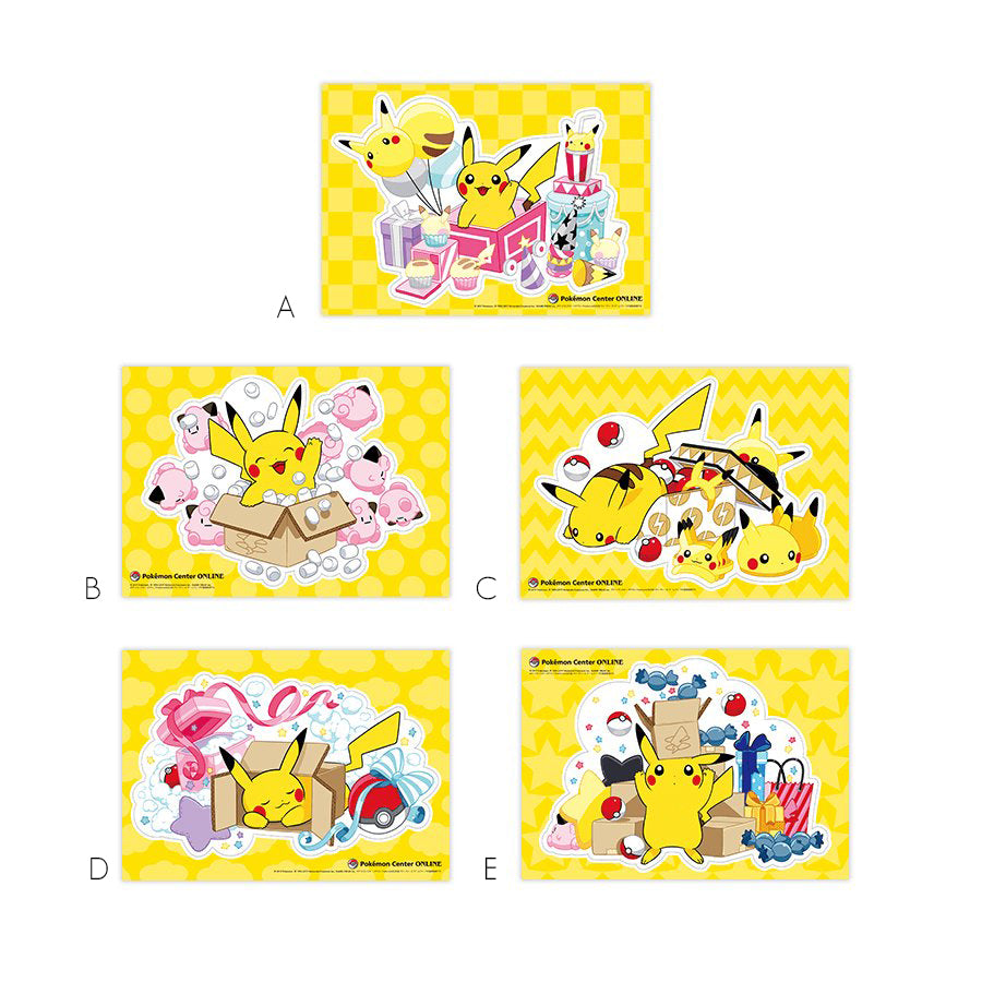 Pokemon Center Online Promo Stickers