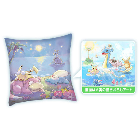 Pikachu & Friends Happy Beach Time Kuji - Art Cushion