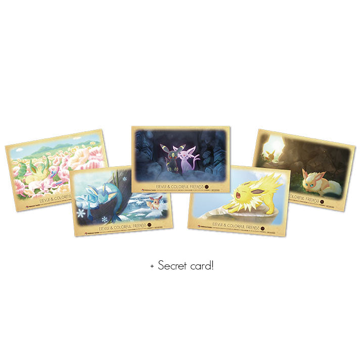 Eevee & Colorful Friends Clear Card