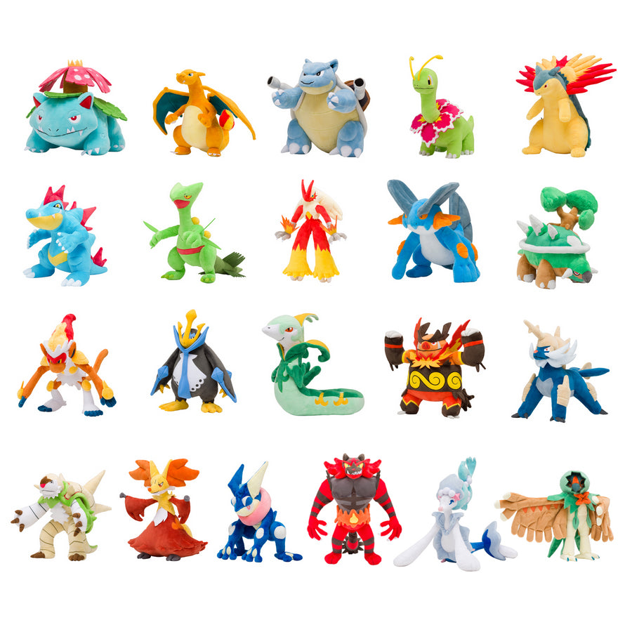 Starter Pokemon Final Evolution Pokemon Center Plush