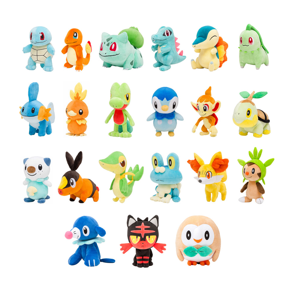 Pokemon Center 20th Anniversary Starter Plush (PREORDER - August 25 Release)
