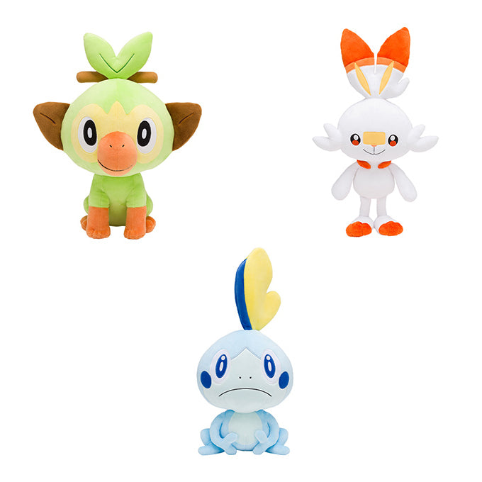 Pokemon Center Galar Starter Life Size Plush