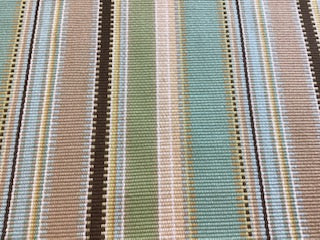 """Aqua Stripe"" 100% Polyester - Sold By The Yard"