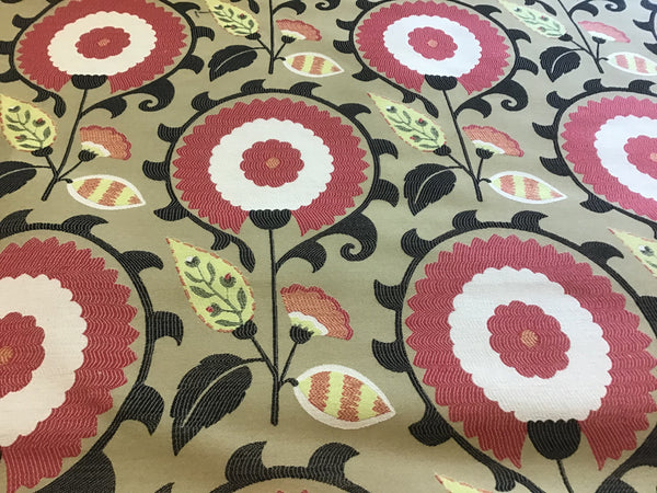 """Flor Feliz Campani"" Waverly Upholstery, Pillow Fabric, Sold by Yd"