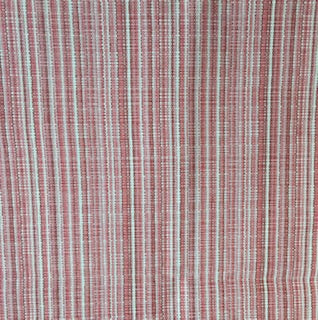 """Coral & Light Pink Stripe""  with White - Sold By The Yard"