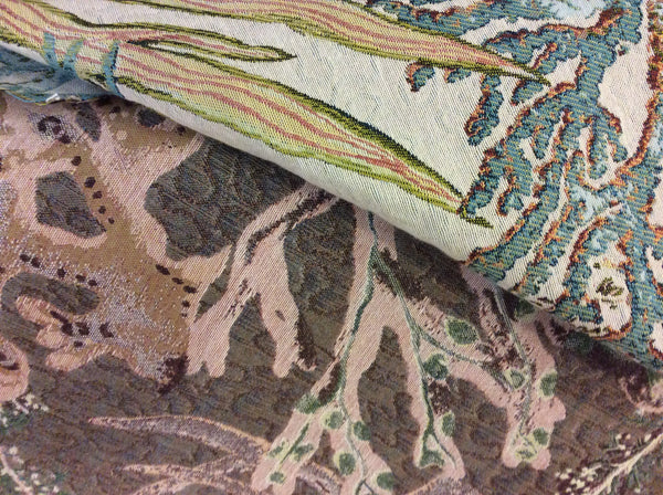 "Decorative Upholstery Fabric ""Calcutta Caribbean"" Sold By The Yard"
