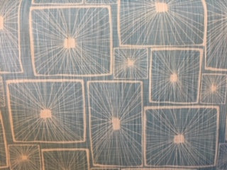 Geometric Light Blue and White - Sold By The Yard