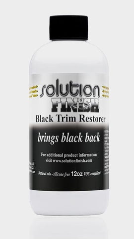 Solution Finish Black Plastic & Vinyl Restorer