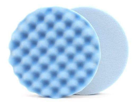 "6.5 "" Lake Country Waffle Pro Blue Finessing Pad"
