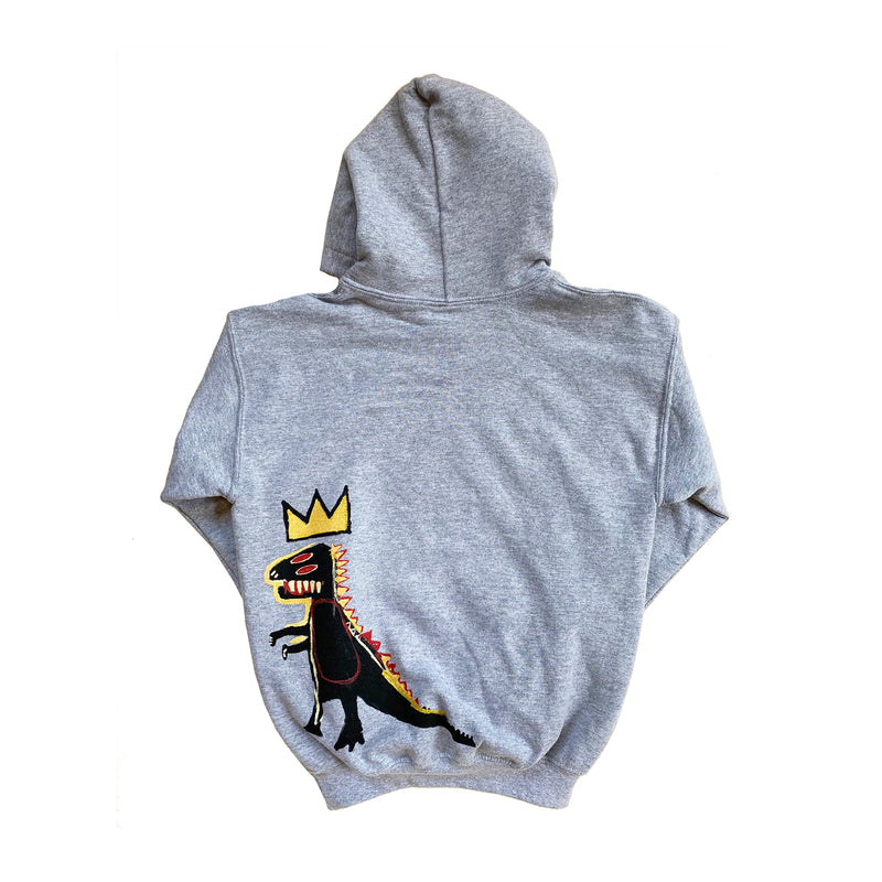 "Basquiat ""Pez Dispenser"" (Dino) Kids Hoodie - Multiple Colors Available"