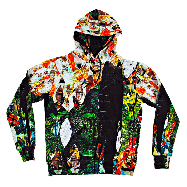 "Rashid Johnson ""Escape Collage"" Unisex All Over Print Hoodie"