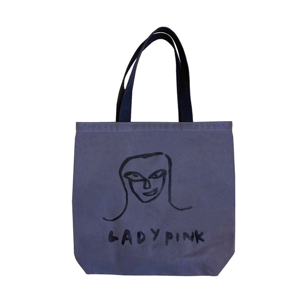 "Basquiat ""Lady Pink"" Large Canvas Tote Bag"
