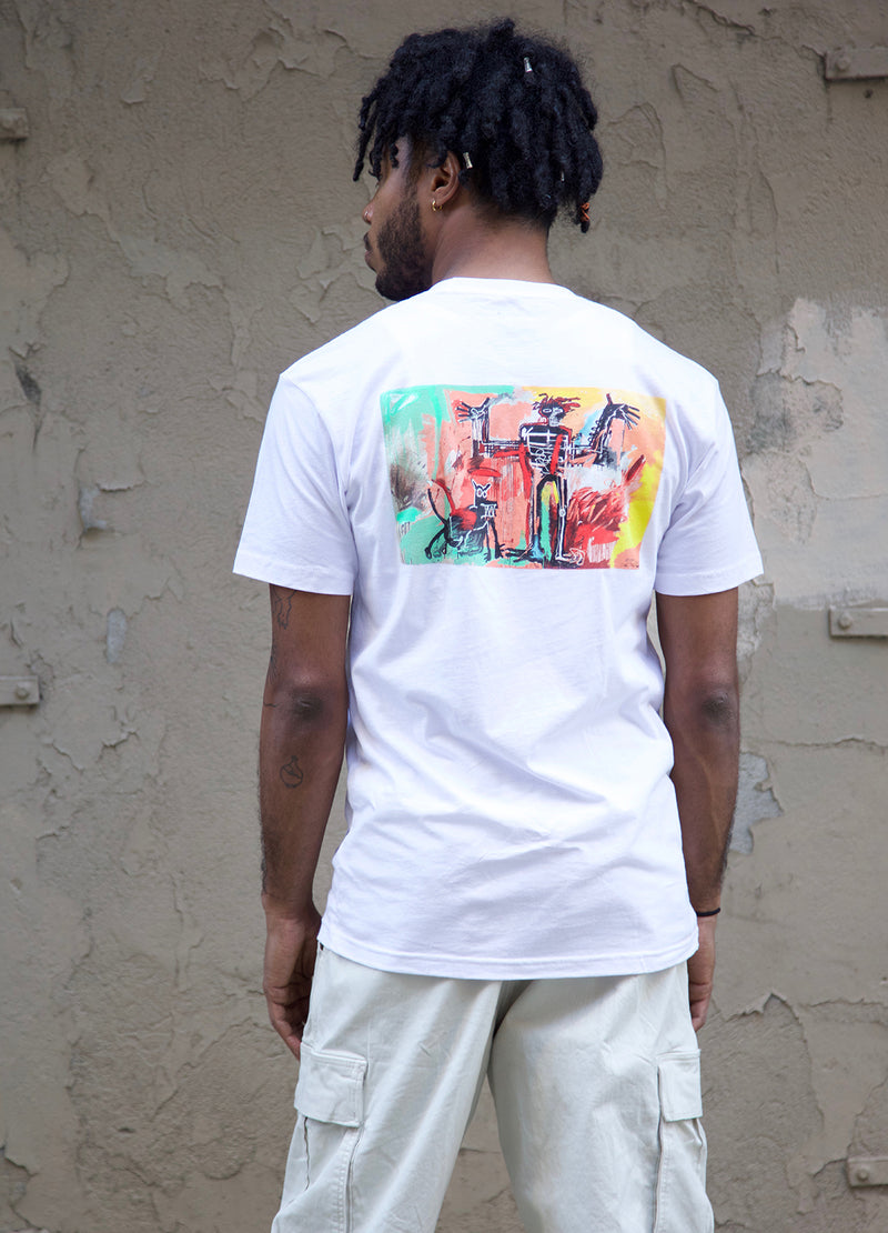 "Basquiat ""Boy and Dog in a Johnnypump"" Unisex T-shirt"