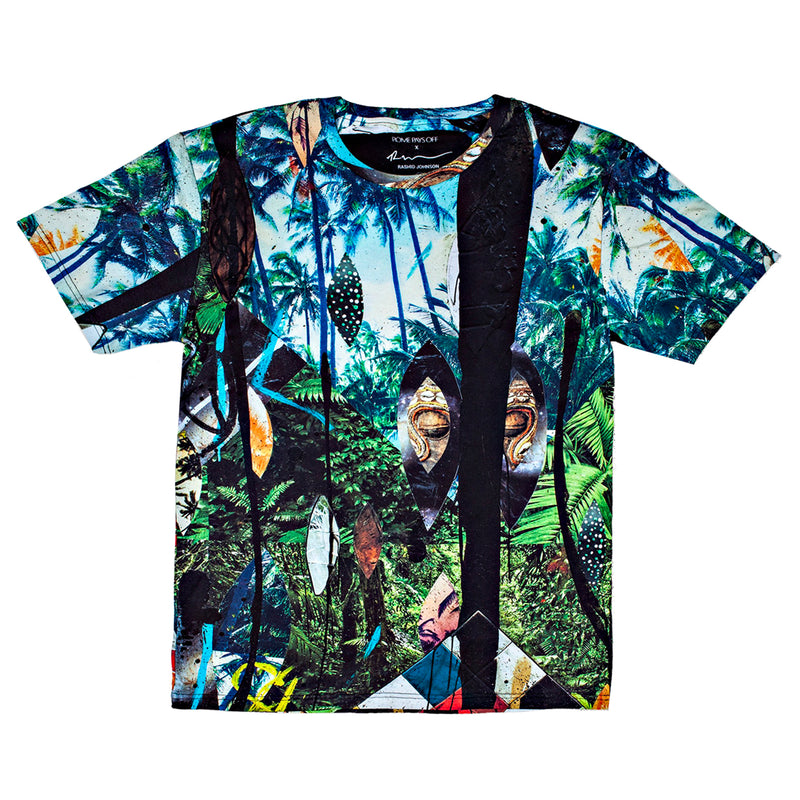 "Rashid Johnson ""Escape Collage"" Unisex All Over Print T-shirt"