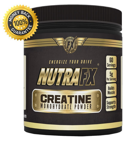 Nutrafx Creatine Monohydrate Powder (300g) Expires March/18