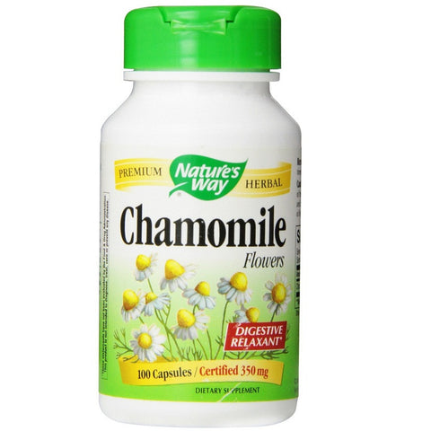 Chamomile Flowers (350 mg,100 Capsules)