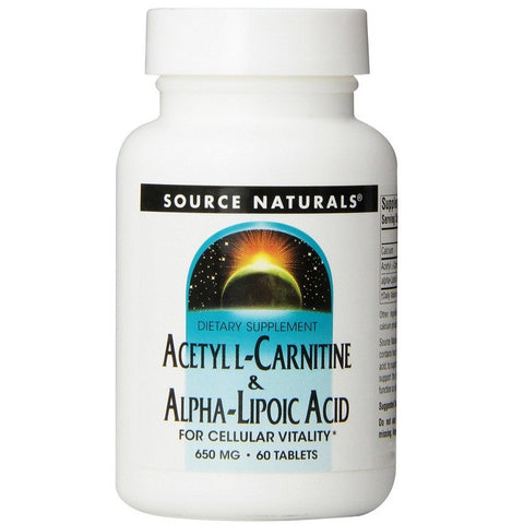 Naturals Acetyl L-Carnitine and Alpha-lipoic Acid(650mg,60 Tablets)