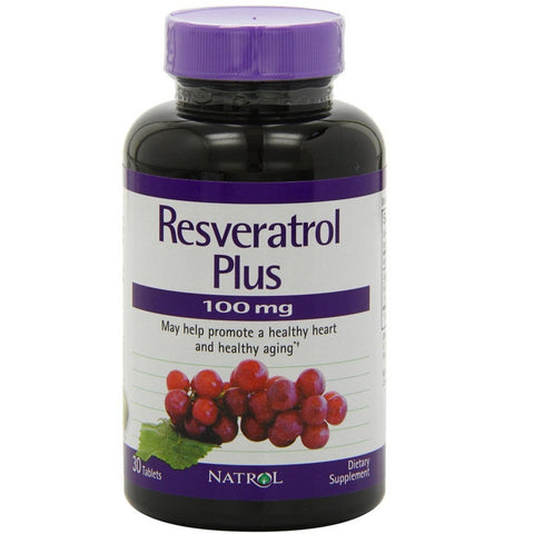 Resveratrol Plus 100mg Tablets,30-Count