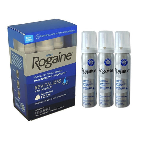 Rogaine Foam for Men Hair Loss(3 Month Supply)