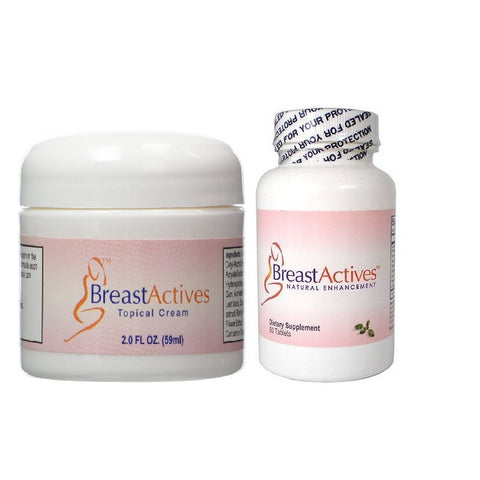 Breast Actives Cream And Pills(60 Capsules)