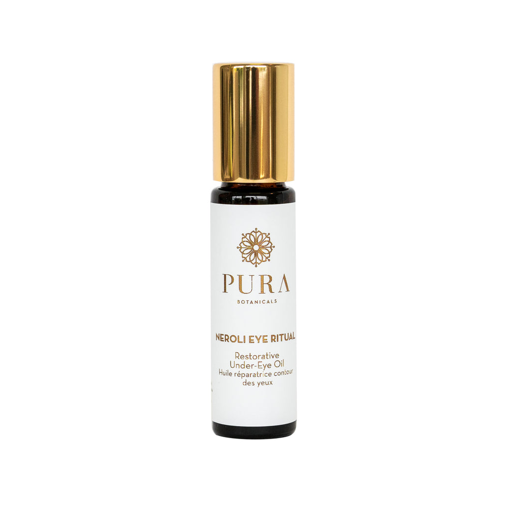 Neroli Eye Ritual Restorative Under Eye Treatment for fine lines and dark circles made by Pura Botanicals