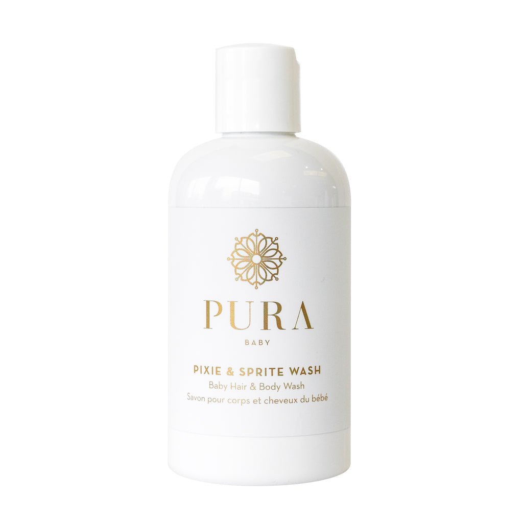 Pixie & Sprite Hair and Body Wash for babies, children and mamas made by Pura Botanicals
