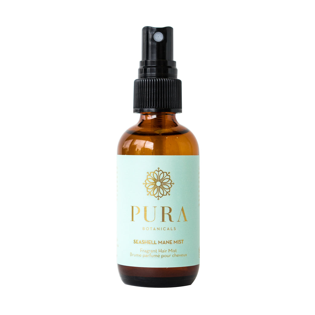 Seashell Mane Mist Fragrant hair and texturizing mist made by Pura Botanicals