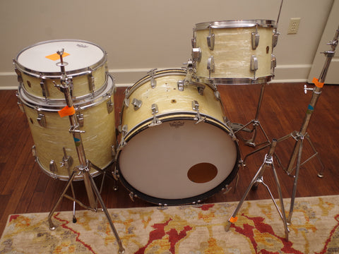 Ludwig 1966 Keystone Badge Pearl Wrap Drum Kit