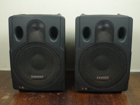 Samson Expedition EX10 Portable PA Speakers PAIR
