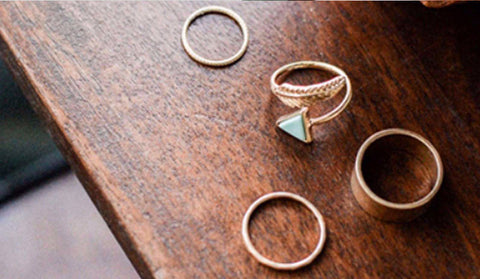 Bohemian Punk Ring Set
