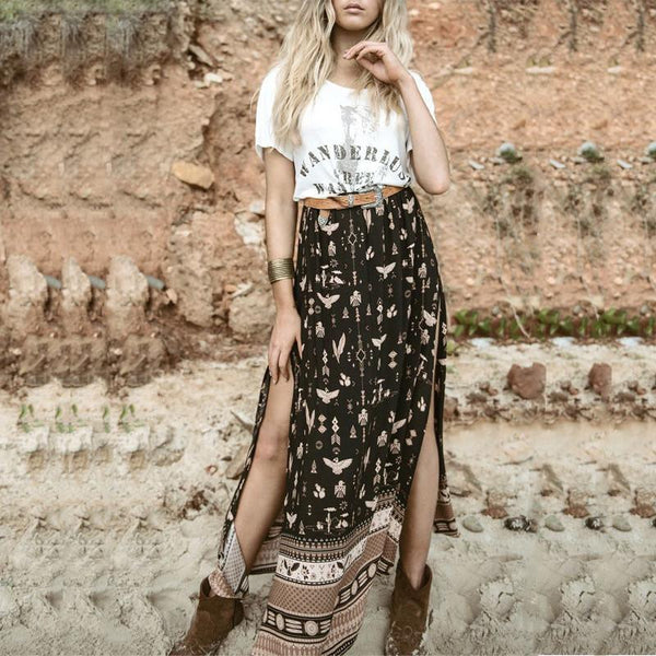 Road Trip Warrior Maxi Skirt