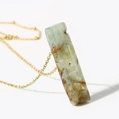 Stone Cold Fox Natural Stone Necklace