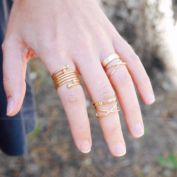 Throw Kindness Like Confetti Midi Ring Set
