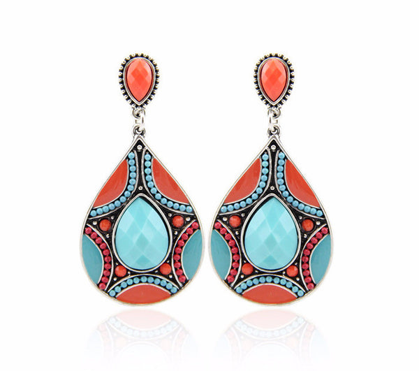 Tibetan Drop Earrings