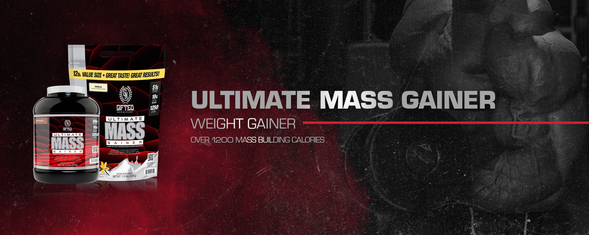 Image result for GIFTED  Ultimate Mass Gainer ( 12lbs )