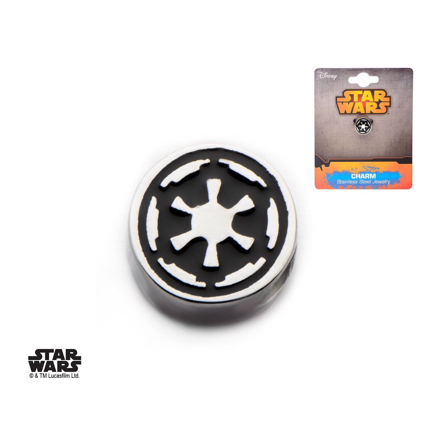 Star Wars Galactic Empire Symbol Bead Charm 316 Stainless Steel