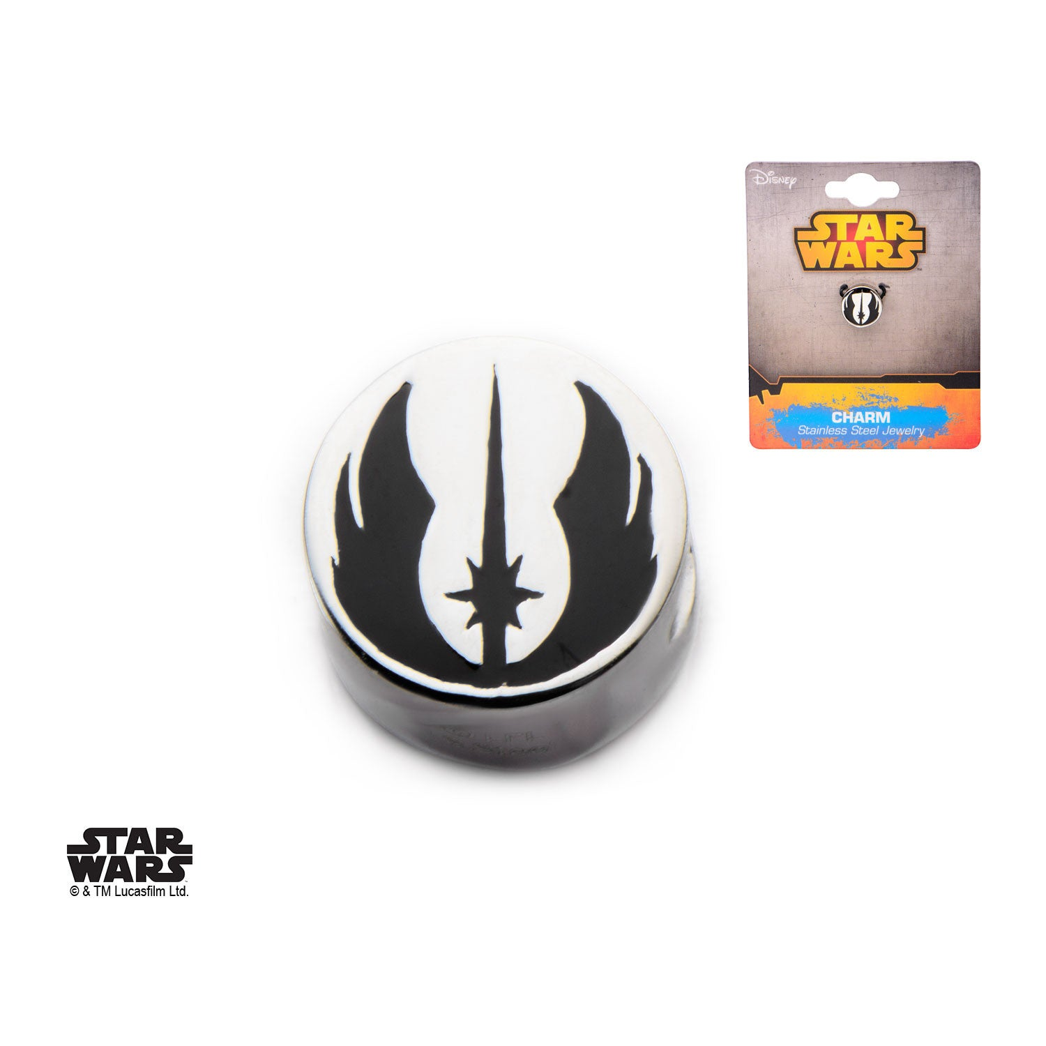 Star Wars Jedi Order Symbol Bead Charm 316 Stainless Steel