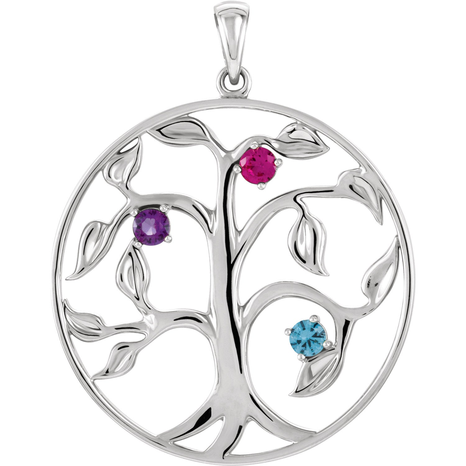 family necklace forever sterling ayl pendant bling jewelry tree silver disc inches